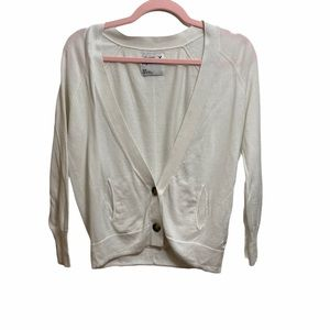 American Eagle Outfitters White Cardigan Sweater